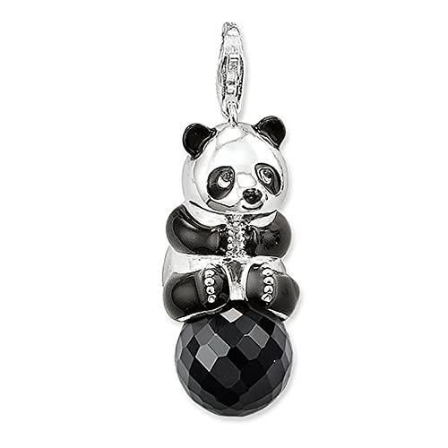 OYZY Panda Colgante, Lindo Colgante De Animales con Cristal 925 Joyería De Plata Esterlina Estilo Europa Bijoux Collar Accesorios Regalo For Hombres Hombres