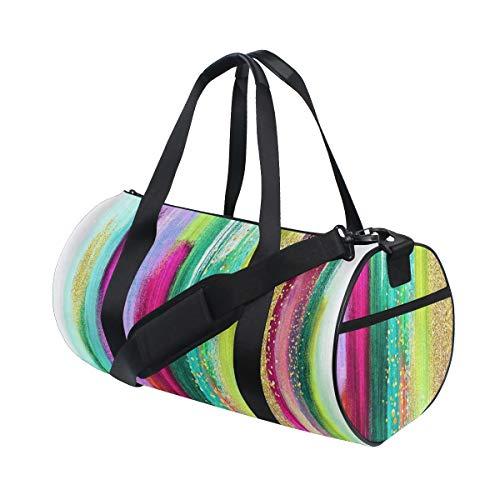 HARXISE Diseño Abstracto Colorido Pinceladas Acuarela Paleta Boho Moda,Bolsa de Equipaje de...