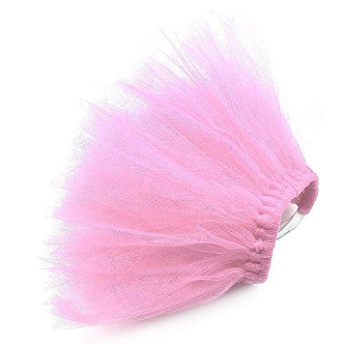 QiuxiaoaaPet Welpen Net Rock Brautkleid Spitze Kleiner Hund Spitzenrock Prinzessin Tutu Kleid Kleidung Kleidung Kostüm Niedlich Rosa Kleine