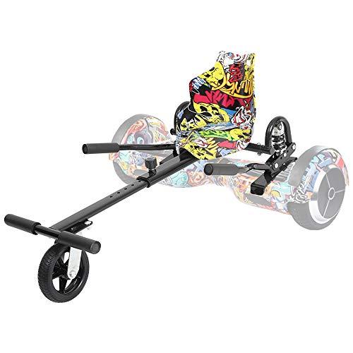 """TGHY Hoverkart Accesorio para Scooter de Dos Ruedas con Autoequilibrio de 6.5"""" 8"""" 10"""" para Transformar El Scooter de Hoverboard en Un Kart Ajustable Hoverboard No Incluido,PU Wheel"""