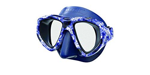 Seac One MAKAIRA masker unisex volwassenen, blauw camouflage