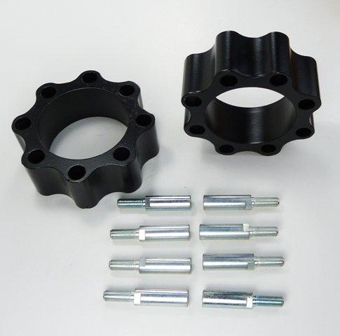 Spurverbreiterungen Quad ATV 156mm - 144mm Lochkreis vorne schwarz