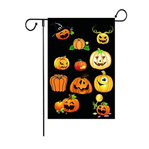 WSJUK 30 * 45cm Gartenfahne Halloween Weihnachten Thanksgiving Gartendekoration Gartenfahne Halloween Zeichen-4