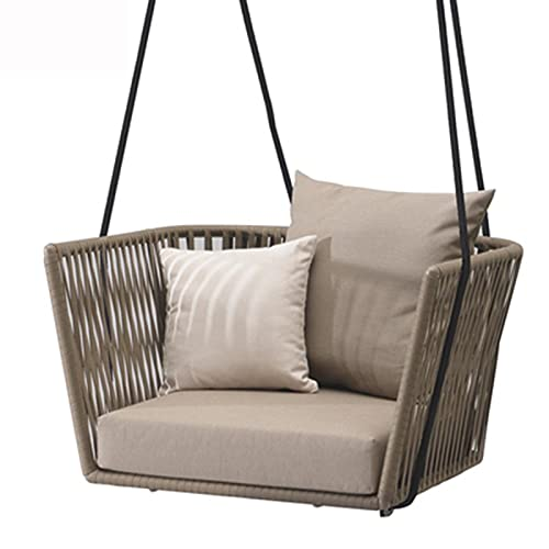 wenyi Outdoor Swing Single Hanging Chair Double Hanging Basket Wicker Chair Balcony Rocking Chair Lazy Household Hammock Indoor And Outdoor Cradle Chair Multi-Style Optional Support Customization
