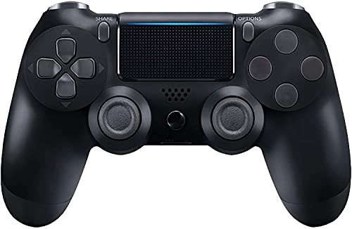 Controller Compatible with PS 4, Bluetooth Wireless Controller Gamepad Remote for PS 4/PS 4 Slim/Pro with Double Shock/6 Axis , Black