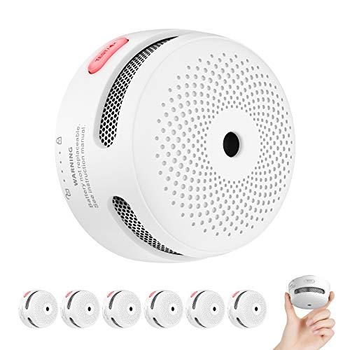 X-Sense Rauchmelder Mini Feuermelder mit 10 Jahren Batterielaufzeit, TÜV und EN14604 Zertifizierter Rauchwarnmelder, Feueralarm mit Fotoelektrischem Sensor, XS01 (6er Set)