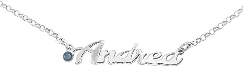Collana con NOME CON o SENZA Brillantino in argento 925 anallergico Made in Italy Disponibili tutti i nomi!