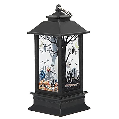 Jopwkuin Lámpara Colgante, lámpara de decoración Conveniente para Colgar Adornos de decoración de Fiestas Lámpara de Halloween para Decoraciones navideñas(Pequeño Esqueleto Nuevo)