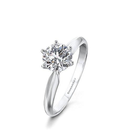 Diamant-Ring 1 Karat Solitär mit Diamond grading Bericht-53 (16.9)
