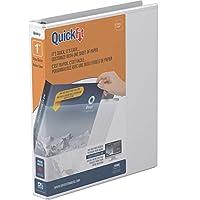 QuickFit 1インチ元ビューバインダー、ラウンドリング、ホワイト88010)