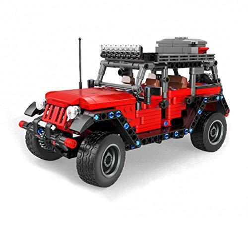 ReallyPow Technik Auto mit Rückziehmotor, Rückziehauto, Geländewagen Auto Kompatibel mit Lego Technic-750 Teile
