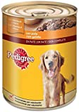 Pedigree Lata de Comida Húmeda para Perros Adultos sabor Pollo (Pack de 12 x 800g)