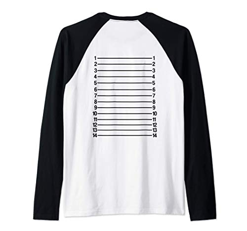 Tabla de longitud de cabello Hair Length Chart Camiseta Manga Raglan