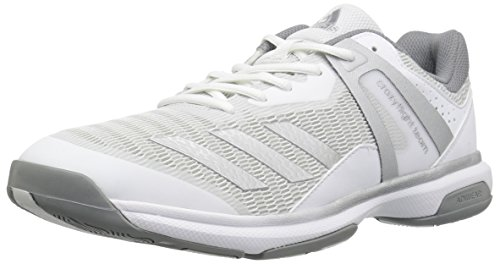 adidas Women's Crazyflight Team Volleyball Shoes, White/Metallic Silver/Grey Three, (11 M US)