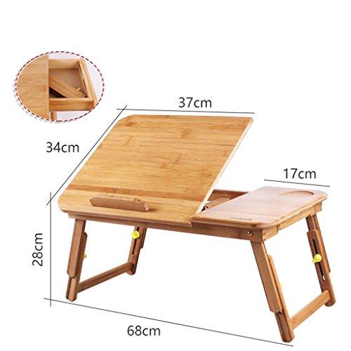Bureau BOBE SHOP- Moderne eenvoudige kleine vouwcomputer, bamboe, draagbaar, kleine salontafel #1-with drawer BRON