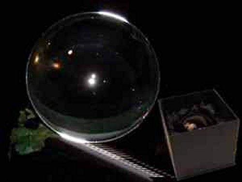 Preisvergleich Produktbild Panotophia Glaskugel Kristallkugel Wahrsager Zauberei 120 mm mit Glasfuß