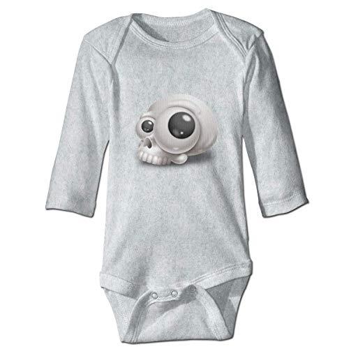 maichengxuan Mameluco Bebé Paller 3D Skull Recién Nacido Bebé Niño Bebé Niñas Niños Mameluco Bebé Manga Larga 0-24 Months Gray