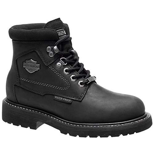 HARLEY-DAVIDSON Womens Bedon Black Leather Boots 40 EU