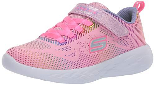 Skechers Mädchen GO Run 600 Shimmer Speeder Sneaker, Rosa Hellrosa Mesh Multi Folienbesatz Lpmt, 27 EU
