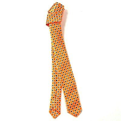MIK funshopping Rock de Cravate Black Stars Orange Fluo