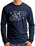 OM3® Mountain-Bike-Parts Langarm Shirt   Herren  ...