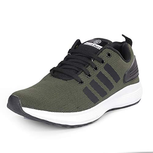 Bacca Bucci Mens Trainers Athletic Walking Running Gyming Jogging Fitness Sneakers/Sports Shoes- Olive
