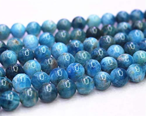 Lot de 32 perles en apatite bleue 6 mm 8 mm 10 mm 12 mm