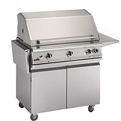 Pgs T-series Commercial 39-inch Freestanding Natural Gas Grill With Timer - S36tng