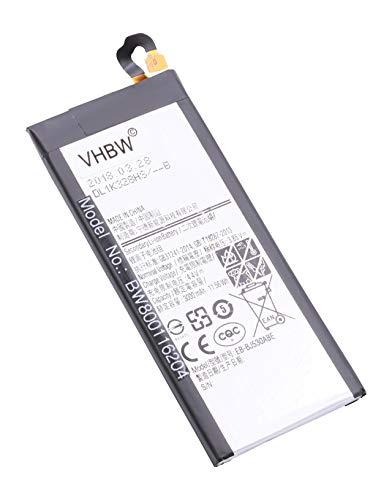 vhbw Litio polímero batería 3000mAh (3.85V) para móvil Smartphone teléfono Samsung Galaxy J5 2017, J5 2017 Duos TD-LTE, J5 2017 TD-LTE, J5 Pro