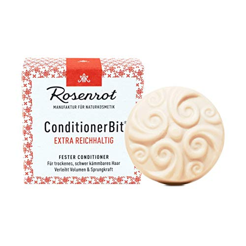 Rosenrot Naturkosmetik - ConditionerBit® - fester Conditioner Extra Reichhaltig - Für trockenes, schwer kämmbares Haar - Verleiht Volumen & Sprungkraft