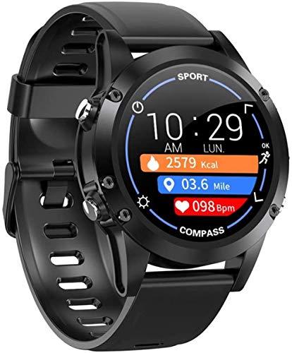 hwbq Reloj inteligente de 1 pulgada con pantalla redonda de color Fitness Trackers con monitor de ritmo cardíaco impermeable IP68Podómetro