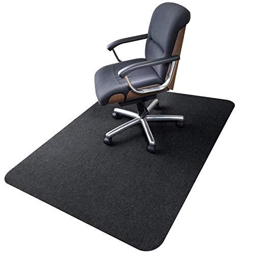 90 x 120 cm, alfombrilla para silla de oficina, versión mejorada, alfombrilla de suelo duro para escritorio, silla de oficina de pelo bajo, para suelos de madera dura