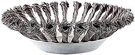 Cepillo giratorio para desherbador con nudo trenzado de alambre de acero, cabezal universal para desbrozadora