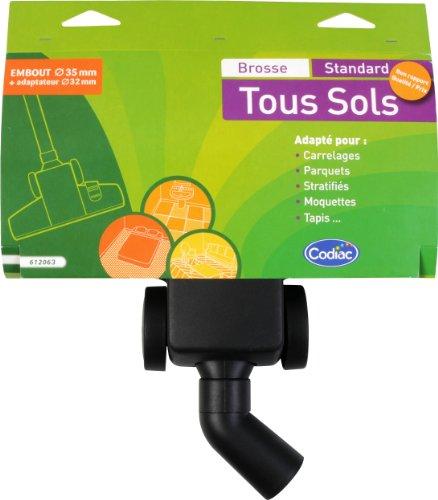 Codiac 612063 Brosse Standard tous Sols + Embout d'Aspirateur 32 mm