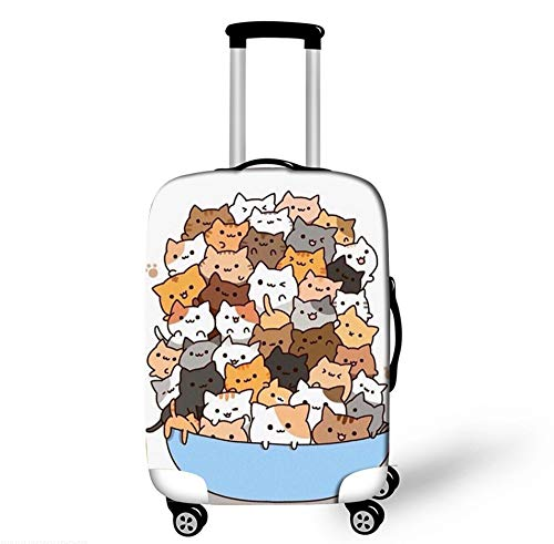 Cute Cat Design Protector Suitcase Cover Trolley Case Luggage Storage Covers Size M Travel Trolley Case Cover 22-25 Inch