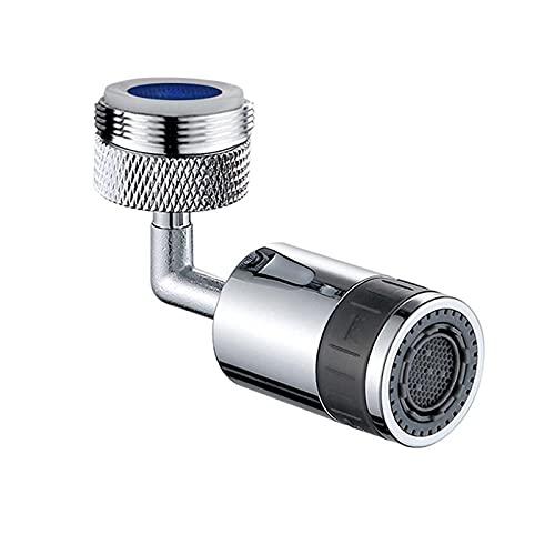 Crewell Aireador de grifo, universal a prueba de fugas, ahorro de agua 720° Rotar grifo aireador para cocina, baño, hogar, oficina, portátil