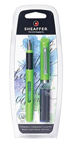 Sheaffer Calligraphy Viewpoint - Pluma estilográfica con grosor ancho, color verde
