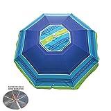 Ombrellone da spiaggia in policotone diam. 200cm,ombrellone mare portatile con custodia con...