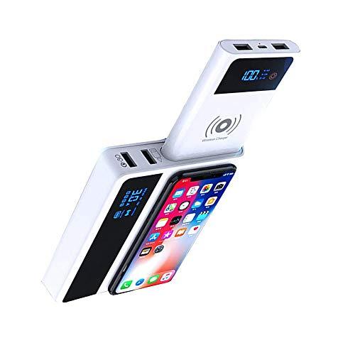 Ashey Power Bank 3.0 Smart led Power Bank 10w Cargador inalámbrico USB rápido, para Samsung Note 8 9 teléfono móvil 3 en 1 Cargador powerbank