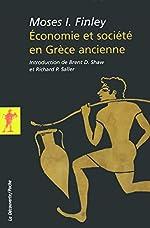 Économie et société en Grèce ancienne de Moses I. FINLEY
