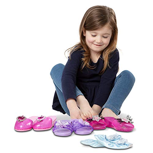 Melissa & Doug Role Play Collection, Step in Style! (Set of 4 Pairs, Frustration-Free Packaging)