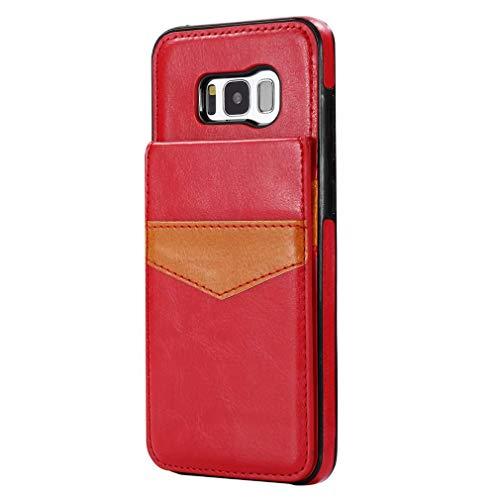 Samsung Galaxy S8 Plus Hoes Geïmporteerd PU materiaal, multifunctionele achterklep portemonnee mobiele telefoon behuizingen door gy-honeq-S8P-515-, Rood