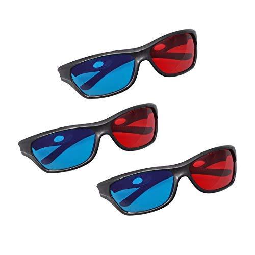 N/A - Gafas 3D con marco negro de cristal 3D para ver...