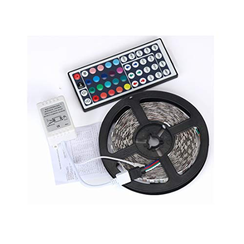 5m LED Strip, LED Streifen, 5m TV Hintergrundbeleuchtung LED Lichtband mit Fernbedienung 300 LED Lichtband RGB LED Leiste Selbstklebend Lichterkette