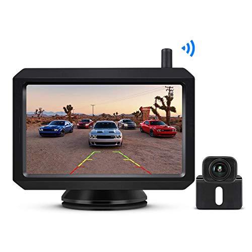 """BOSCAM K7 Drahtlos Digital Rückfahrkamera Set mit Eingebautem Funksender, 5"""" LCD Monitor, Kabellose Rückfahrkamera mit IP68 Wasserdichter Kamera, Nachtsicht für Kfz, SUV, Van, Campingbus, Anhänger"""
