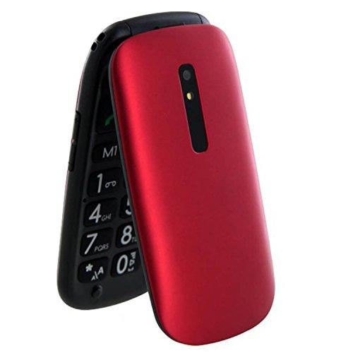 """TELEFUNKEN TM220 - Móvil de Teclas Grandes (2.4"""") Color Rojo"""