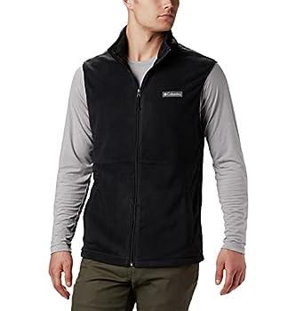 Columbia Men's Basin Trail Fleece Vest Full Zip Large Black