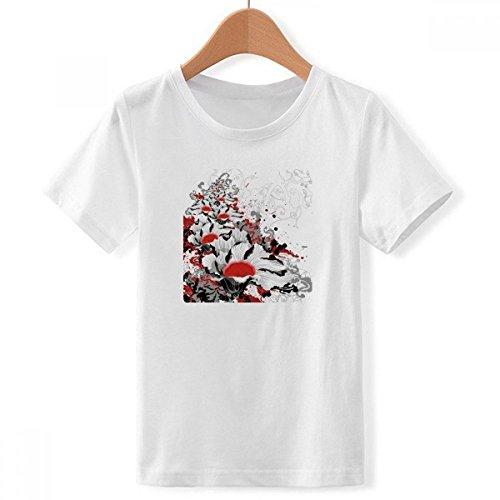 DIY thinker Jongen bloemen plant pioenroos decoratie schilderen met ronde hals wit T-shirt