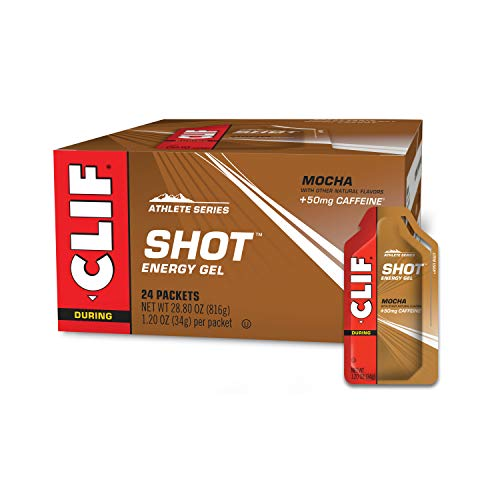 CLIF SHOT  Energy Gels  Mocha NonGMO  NonCaffienated  Fast Carbs for Energy  High Performance amp Endurance  Fast Fuel for Cycling and Running 12 Ounce Packet 24 Count