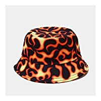 3°Amy バケットハット 漁師帽 バケツの帽子の蝶の火の雲の龍のプリントネクタイ染料漁師の帽子のための森の帽子屋外の太陽の帽子 #a (Color : 3)